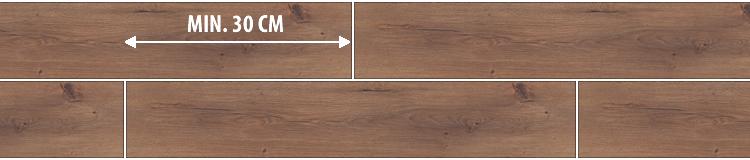 laminált padló lerakása útmutató 6. - rövid oldali kötések