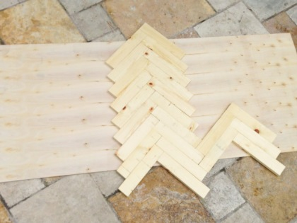 diy herringbone