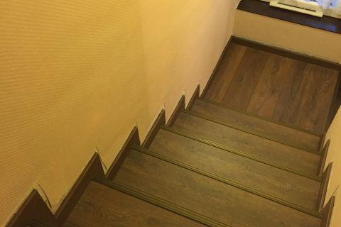 Laminált padló járólapos lépcsőre